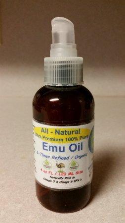 4 Oz. Organic Emu oil